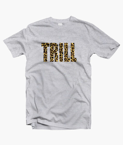 Trill Leopard T Shirt sport grey