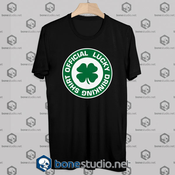 Lucky Drinking Official Tshirt Designs Black