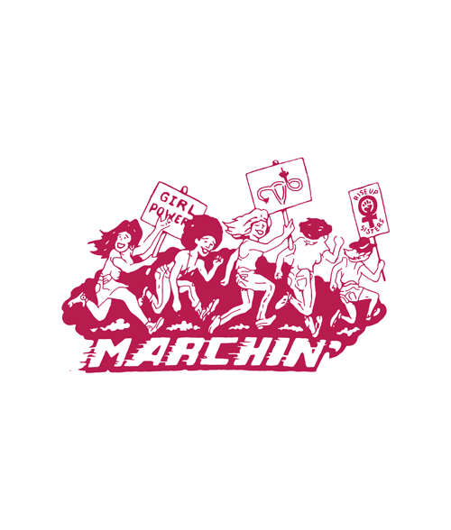 Marching Graphic T Shirt