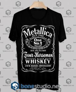 Metallica Jack Daniels Tshirt Design