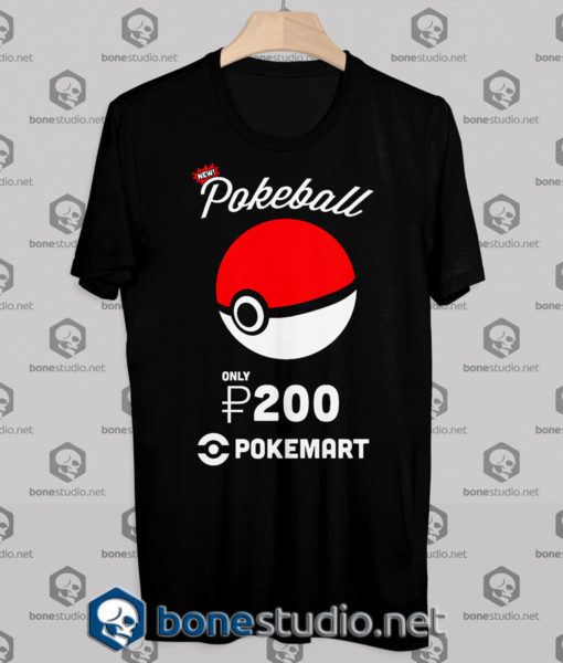 Tshirt Pokemon Pokeball Pokemart Ad