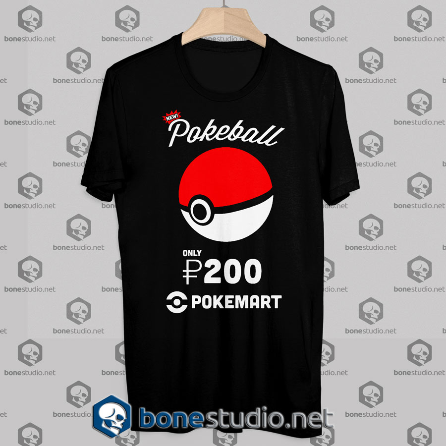 Tshirt Pokemon Pokeball Pokemart Ad