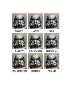 Starwars Stormtrooper Expressions T Shirt