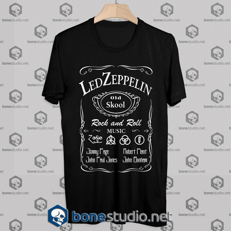tshirt led zeppelin jack daniels style - Led Zeppelin Christmas