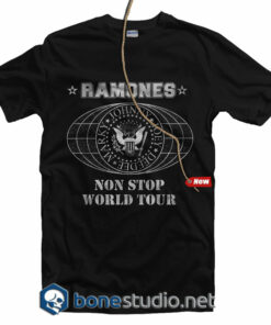Non Stop World Tour 1980 Ramones T Shirt