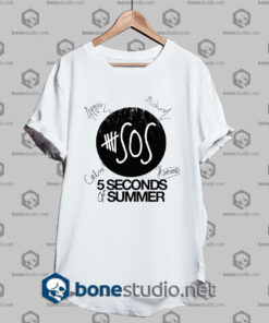 5 Seconds of Summer Members Signature Tshirt