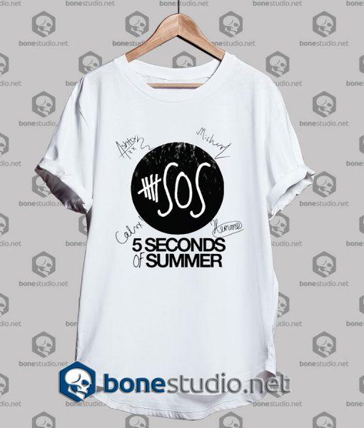 5 Seconds of Summer Members Signature Tshirt