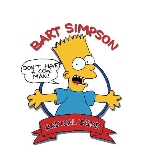 Bart Simpson Radical Dude T Shirt