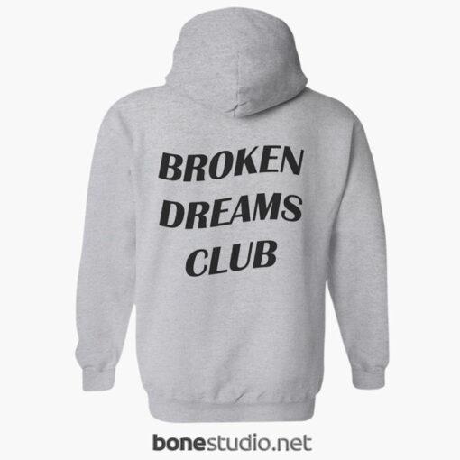 Broken Dreams Club Hoodies sport grey back