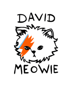 David Meowie T Shirt