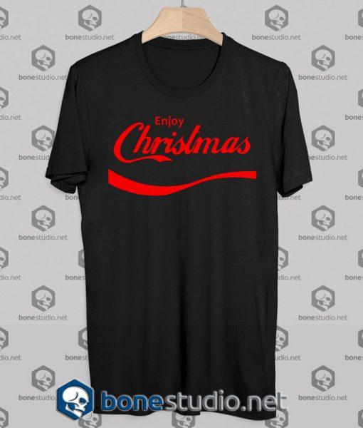 Enjoy Christmas T-shirt Coca Cola Parody Logo Tshirt Designs