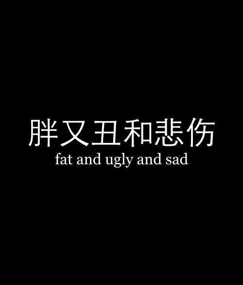 Fat And Ugly And Sad T Shirt
