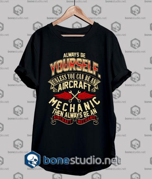 Mechanic Style Aircraft Mechanic T shirt