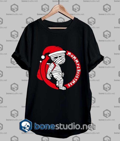 Santa Claus Mummy Funny T Shirt