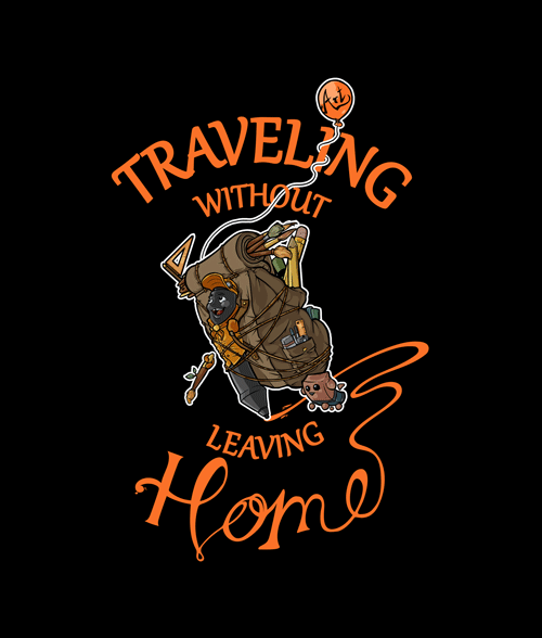 Traveling Without Leaving Home Art T Shirt
