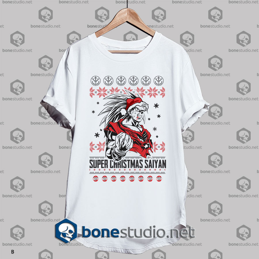 Ugly Style Super Saiyan Christmas T shirt
