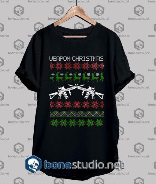 Ugly StyleWeapon Christmas T shirt