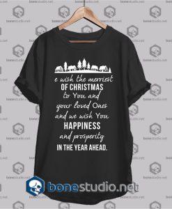 We wish the merriest christmas t shirt
