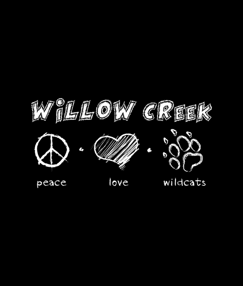 Willow Creek Peace Love Wild Cat T Shirt