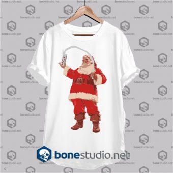 christmas milk santa claus t shirt