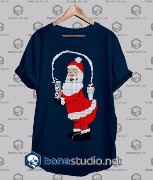 christmas milk santa t shirt