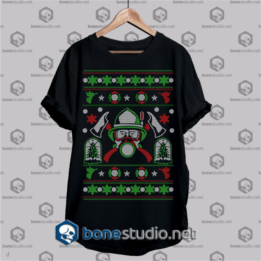 diver in christmas ugly style christmas t shirt