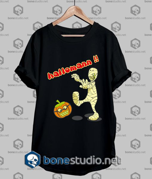 Mummy Versus Halloween Funny T Shirt