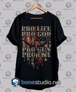 pro life pro god t shirt