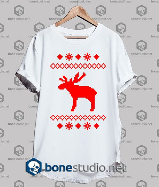 Rudolph Moose,Rudolph Moose Caribou tshirt,Rudolph Moose Caribou Christmas,Rudolph Moose Caribou Christmas Winter Snowflake