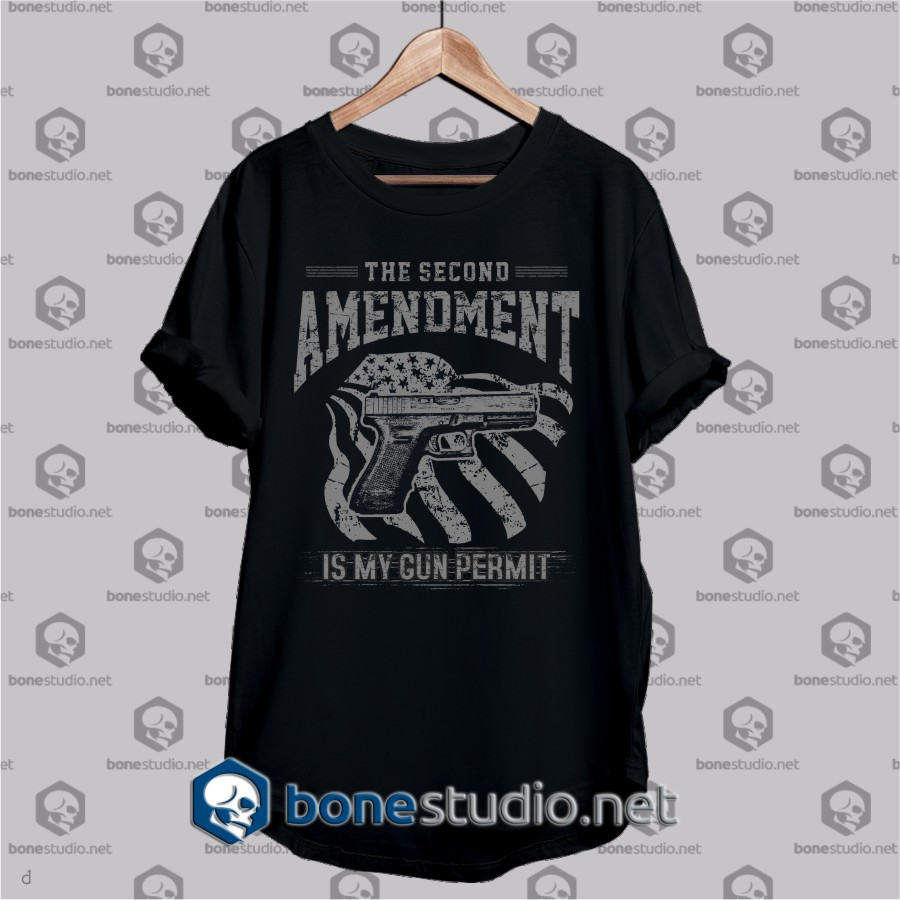 the second amendment quote army t shirt