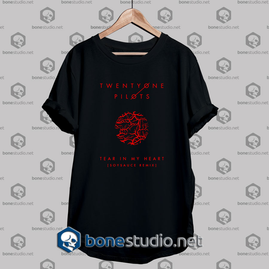 twenty one pilots tear in my heart cover tshirt