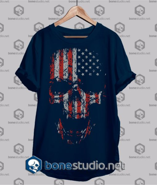 us flag bones t shirt