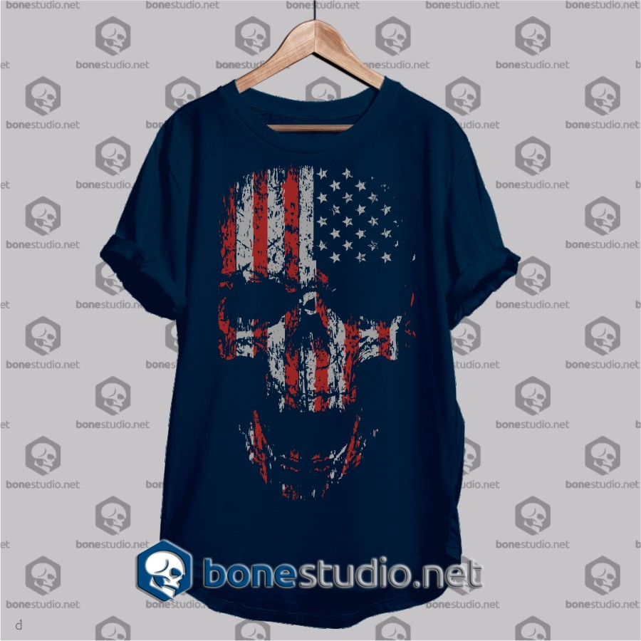 us flag bones t shirt