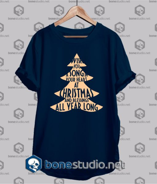 wish you a song christmas funny t shirt