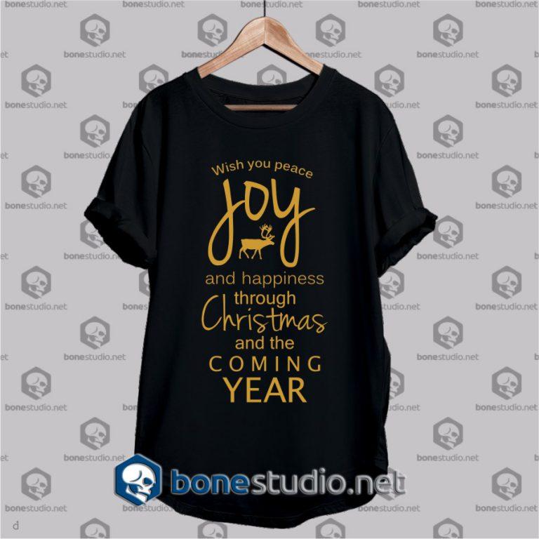 wish you peace joy t shirt