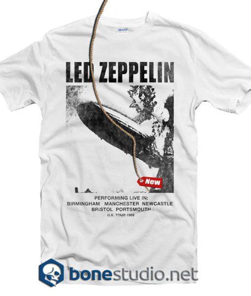 Led Zeppelin UK Tour 69 T Shirt