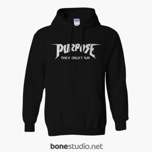 2016 Justin Bieber Purpose The World Tour Hoodie