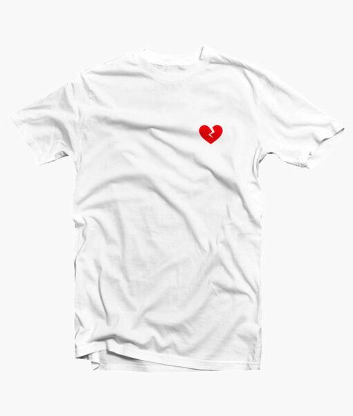 Broken Heart Red T Shirt