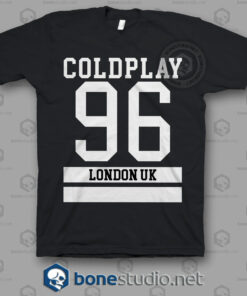 Coldplay 96 London Uk Band T Shirt