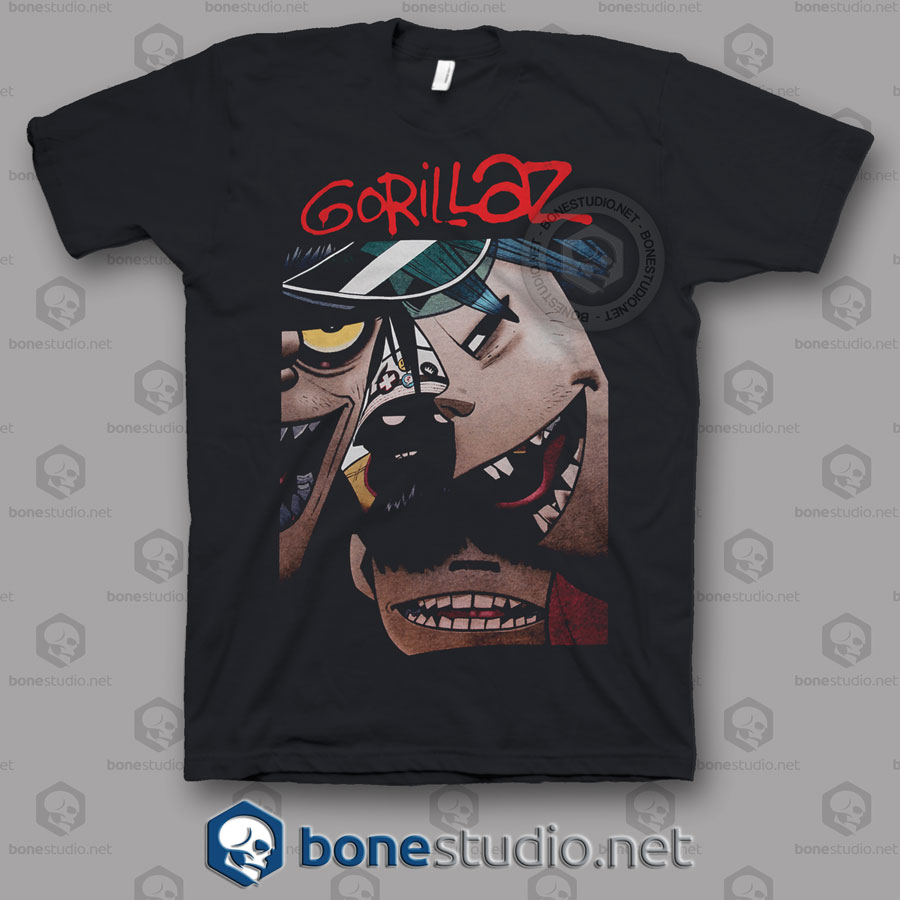 Gorillaz Face Band T Shirt