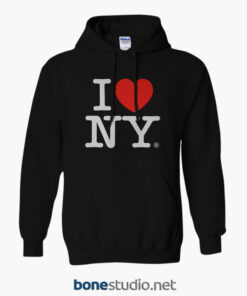 I Love New York Hoodies black