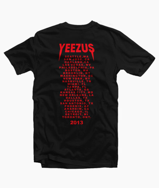 Kanye West Yeezus T Shirt Tour 2013