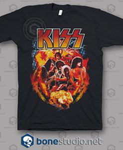 Kiss Fire Effect Band T Shirt