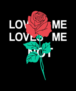 Love Me Love Me Not Hoodie Rose Flower