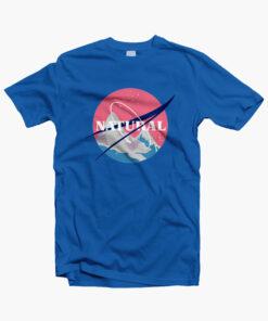 Natural T Shirt NASA royal blue