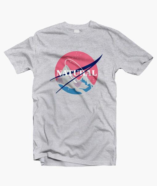 Natural T Shirt NASA sport grey