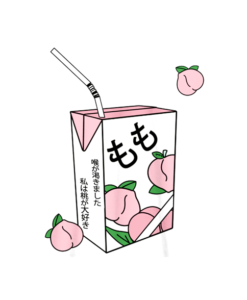 Peach Juice Japanese Kawaii T Shirt