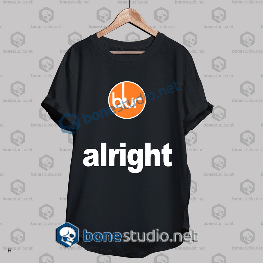 Blur Alright Band T Shirt