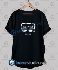 Cassette Stencil Graphic Grunge T Shirt