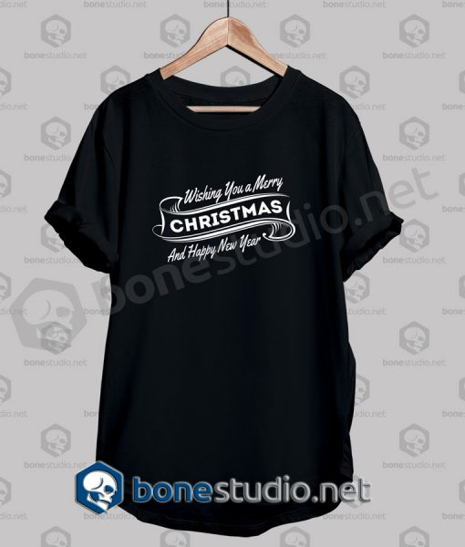 Christmas Wishing You A Merry Quote T Shirt